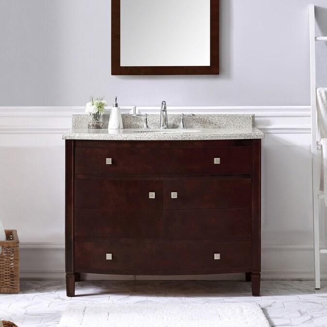 Ove Decors Georgia 42 In Tobacco Undermount Single Sink Bathroom Vanity With Tiger Granite Top In The Bathroom Vanities With Tops Department At Lowes Com