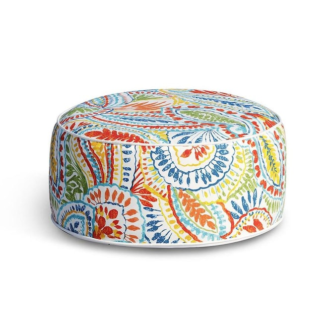 Ove Decors Marlowe 21 In Multicolor Inflatable Ottoman In The Outdoor Ottomans Foot Stools Department At Lowes Com