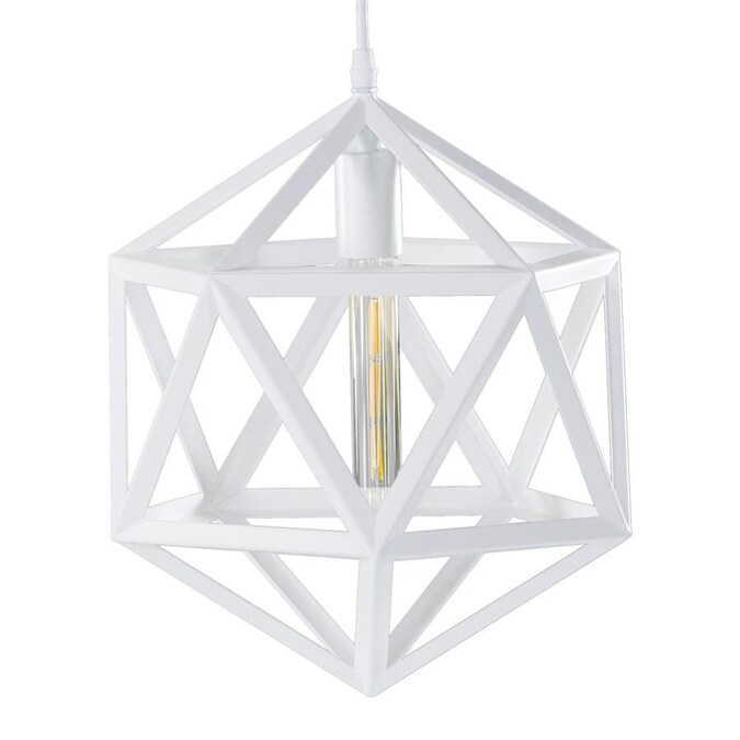Boston Loft Furnishings Matte White Modern Contemporary Geometric Led Pendant Light In The Pendant Lighting Department At Lowes Com