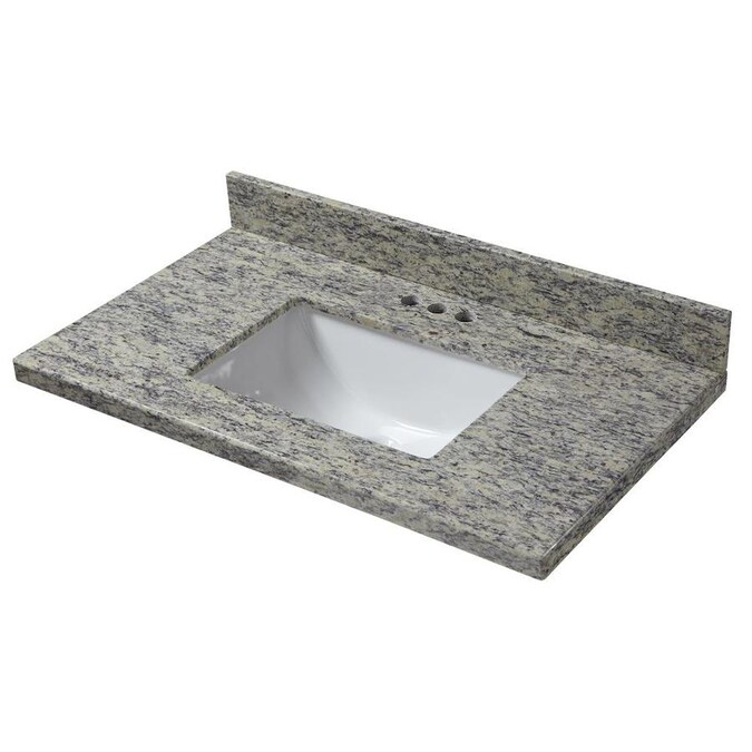 Design House 37 In Kashmir White Granite Single Sink Bathroom Vanity Top In The Bathroom Vanity Tops Department At Lowes Com