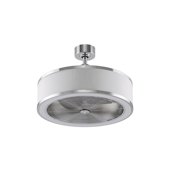 Fanimation Studio Collection Ringaire Chrome 23 In Led Indoor Ceiling Fan 3 Blade In The Ceiling Fans Department At Lowes Com