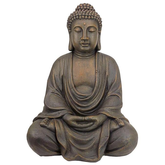 W Gray Buddha Garden Statue, Buddha Garden Statues