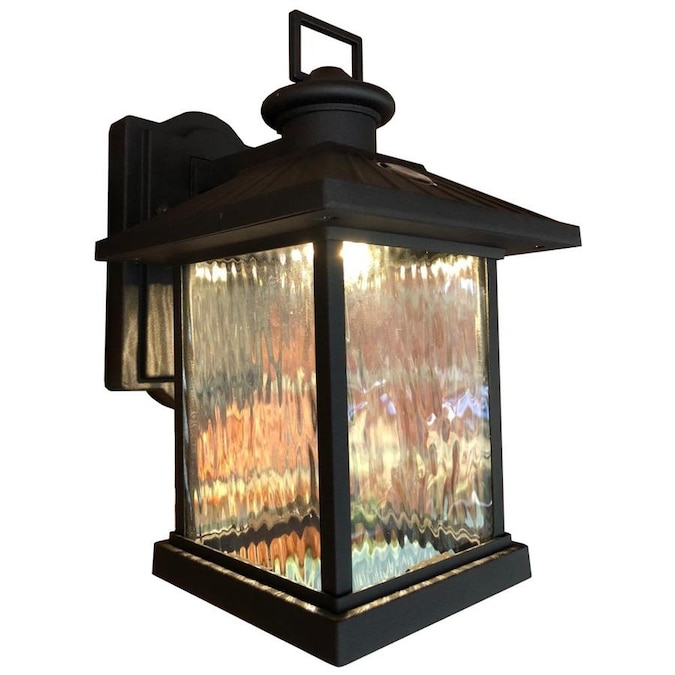 Superhunter Photocell 12 In H Black Led Outdoor Wall Light In The Outdoor Wall Lights Department At Lowes Com
