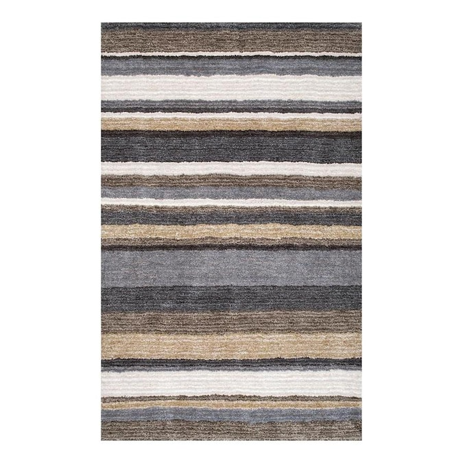 Nuloom Classie 8 X 10 Beige Indoor Stripe Handcrafted Area Rug In The Rugs Department At Lowes Com