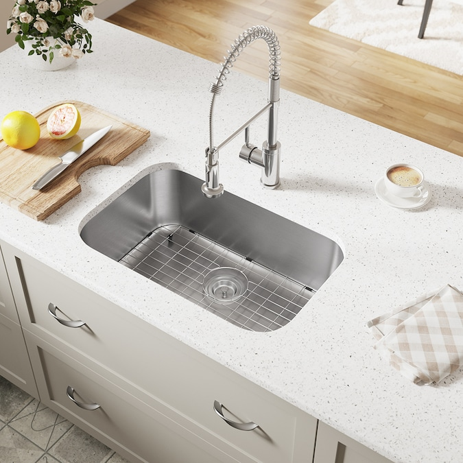 Mr Direct Undermount 27 125 In X 17 875 In Stainless Steel Single Bowl Kitchen Sink In The Kitchen Sinks Department At Lowes Com