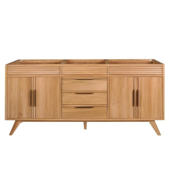 Avanity Taylor 72 In Natural Teak Bathroom Vanity Cabinet In The Bathroom Vanities Without Tops Department At Lowes Com