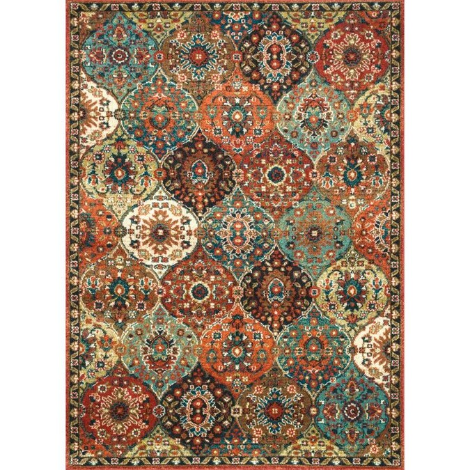 Nuloom 8 X 10 Rust Indoor Trellis Area Rug In The Rugs Department At Lowes Com