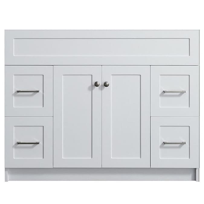 Ariel Hamlet 42 In White Bathroom Vanity Cabinet In The Bathroom Vanities Without Tops Department At Lowes Com