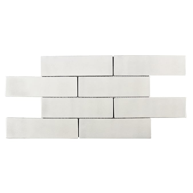 Elida Ceramica Harmony White Subway 12 In X 15 In Glazed Ceramic Brick Subway Wall Tile In The Tile Department At Lowes Com