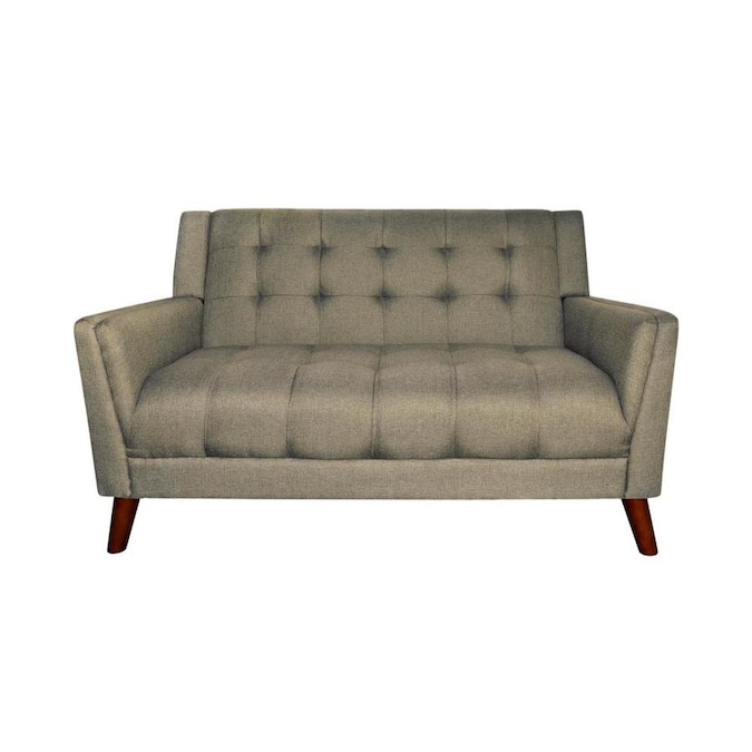 Best Selling Home Decor Candace Mid Century Modern Fabric Loveseat Mocha In The Couches Sofas Loveseats Department At Lowes Com