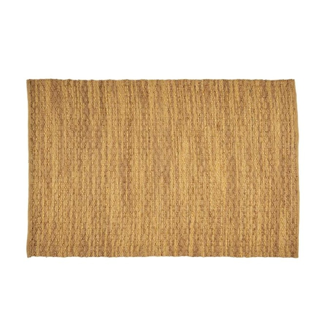 Best Selling Home Decor Hanna 5 X 8 Yellow Handcrafted Area Rug In The Rugs Department At Lowes Com