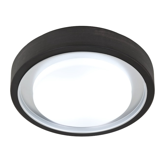 Style Selections 11 81 In Oil Rubbed Bronze Modern Contemporary Flush Mount Light In The Flush Mount Lighting Department At Lowes Com