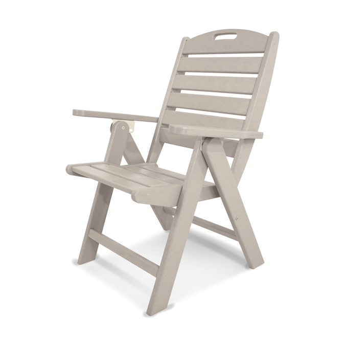 Polywood Nautical Sand Plastic Frame Stationary Dining Chair S With Slat Seat In The Patio Chairs Department At Lowes Com
