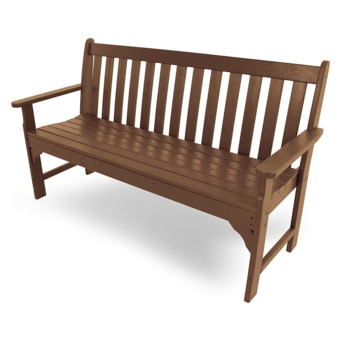 Polywood Vineyard 60 5 In W X 35 25 In L Teak Bench In The Patio Benches Department At Lowes Com