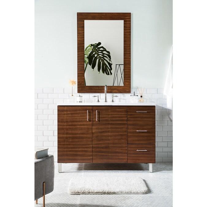 James Martin Vanities Metropolitan 48 In American Walnut Undermount Single Sink Bathroom Vanity With Arctic Falls Acrylic Top In The Bathroom Vanities With Tops Department At Lowes Com