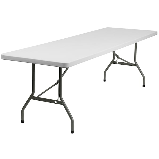 Flash Furniture 3 Ft X 8 Ft Indoor Rectangle Plastic White Folding Banquet Table In The Folding Tables Department At Lowes Com