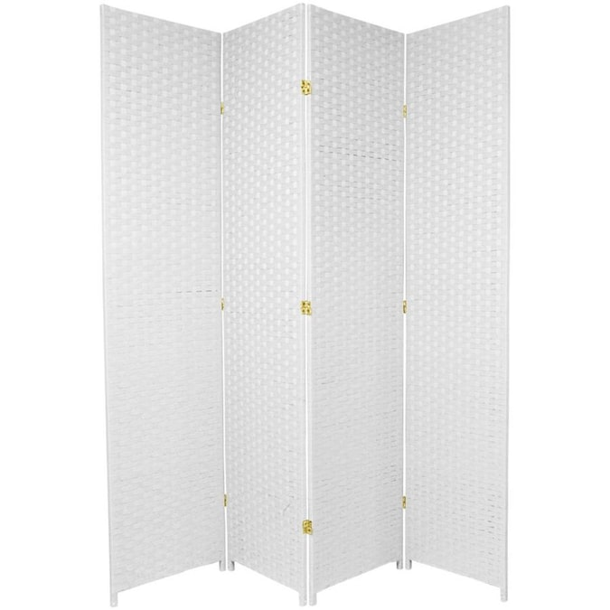 Oriental Furniture 3 Panel Printed Fabric Folding Contemporary Modern Style Room Divider In The Room Dividers Department At Lowes Com