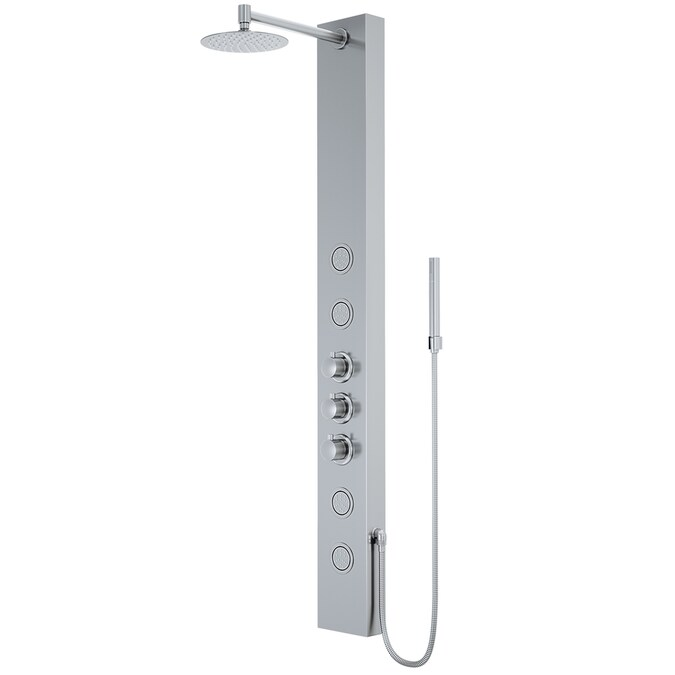 Vigo 55 In Kingsley Stainless Steel 2 Spray Massage Jet Shower Panel System In The Shower Systems Department At Lowes Com
