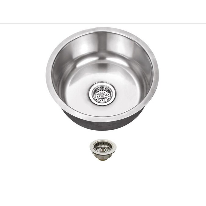 Superior Sinks 16 25 In L X 16 25 In W Brushed Satin Stainless Steel Undermount Residential Bar Sink In The Bar Prep Sinks Department At Lowes Com