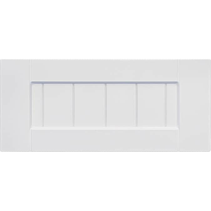 Surfaces 16 In W X 5 75 In H X 0 75 In D White Rigid Thermofoil Base Cabinet Drawer Fronts In The Kitchen Cabinet Doors Department At Lowes Com