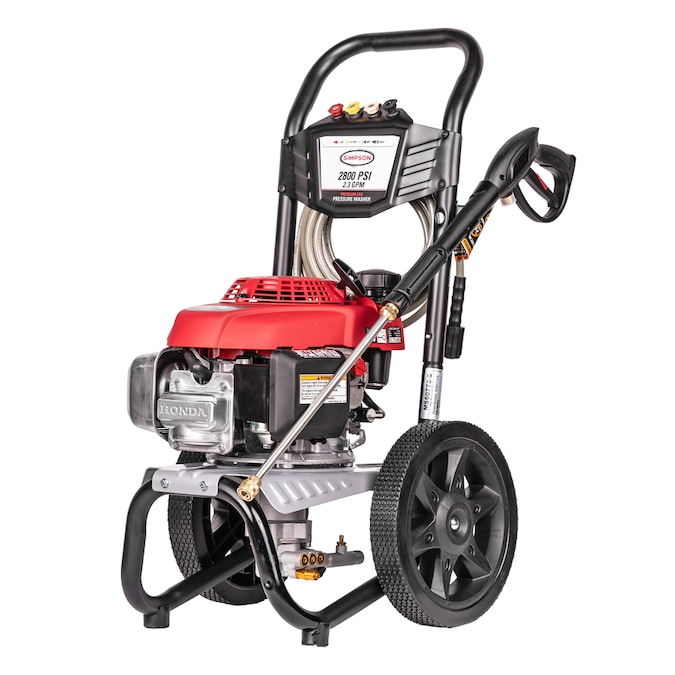 Simpson Megashot 2800 Psi 2 3 Gpm Cold Water Gas Pressure Washer With Honda Engine Carb In The Gas Pressure Washers Department At Lowes Com