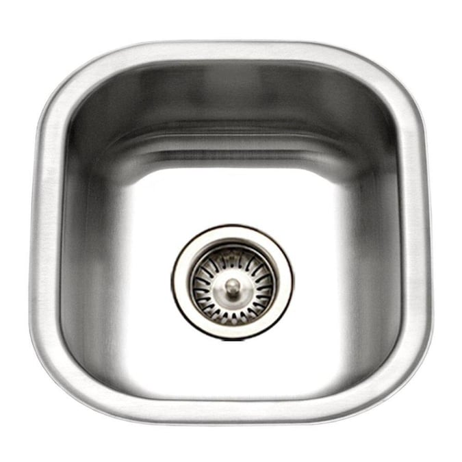 Houzer Club 17 3126 In L X 16 25 In W Stainless Steel Undermount Commercial Residential Bar Sink In The Bar Prep Sinks Department At Lowes Com