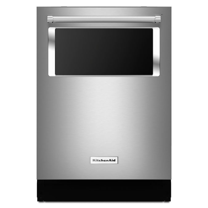 Kitchenaid 44 Decibel Top Control 24 In Built In Dishwasher Stainless Steel Energy Star In The Built In Dishwashers Department At Lowes Com