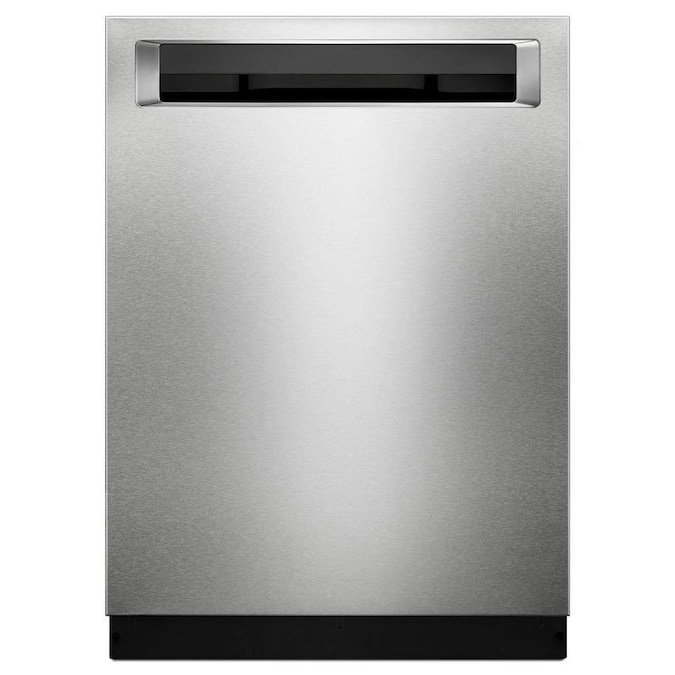 Kitchenaid 46 Decibel Top Control 24 In Built In Dishwasher Stainless Steel With Printshield Energy Star In The Built In Dishwashers Department At Lowes Com
