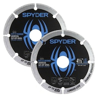 Lowes.com deals on 2-Pack Spyder 4-1/2-in Diamond Blade