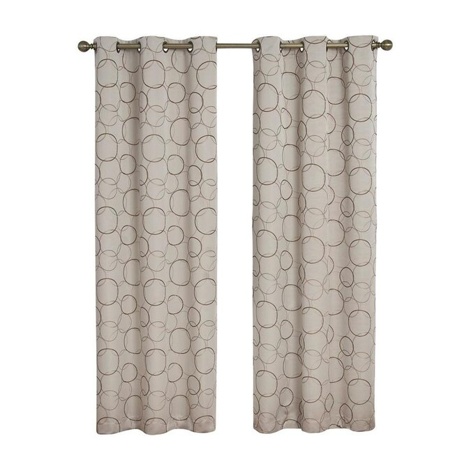 Eclipse 84 In Linen Polyester Blackout Grommet Single Curtain Panel In The Curtains Drapes Department At Lowes Com
