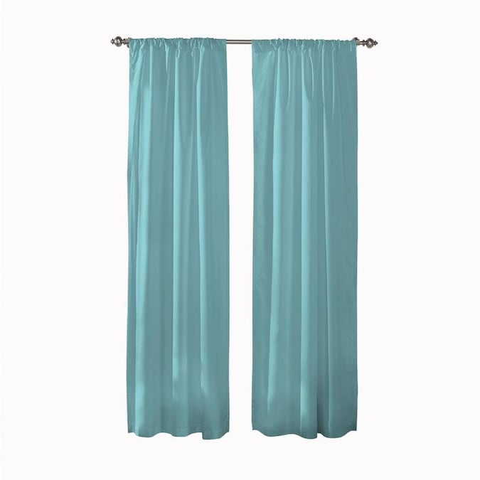 Pairs To Go 84 In Aegean Polyester Room Darkening Rod Pocket Curtain Panel Pair In The Curtains Drapes Department At Lowes Com