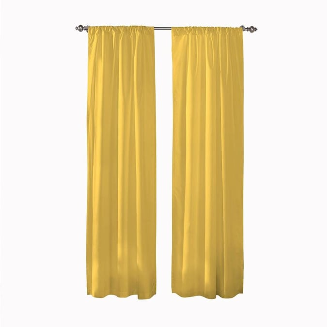 Pairs To Go Cadenza 54 In Mimosa Polyester Room Darkening Curtain Panel Pair In The Curtains Drapes Department At Lowes Com