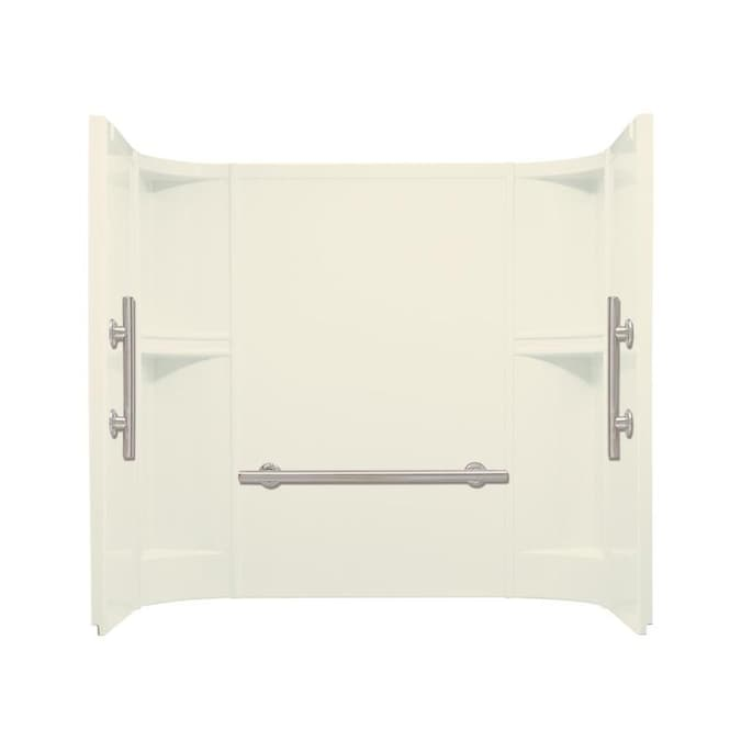 Sterling Accord White Vikrell Bathtub Wall Surround Common 60 In X 32 In Actual 55 25 In X 60 In X 32 In In The Bathtub Walls Surrounds Department At Lowes Com