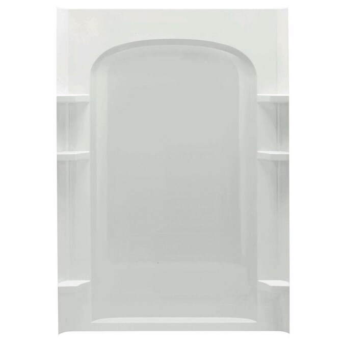 Sterling Ensemble Curve 48 In X 72 5 In White Shower Surround Back Wall Panel In The Shower Wall Panels Department At Lowes Com