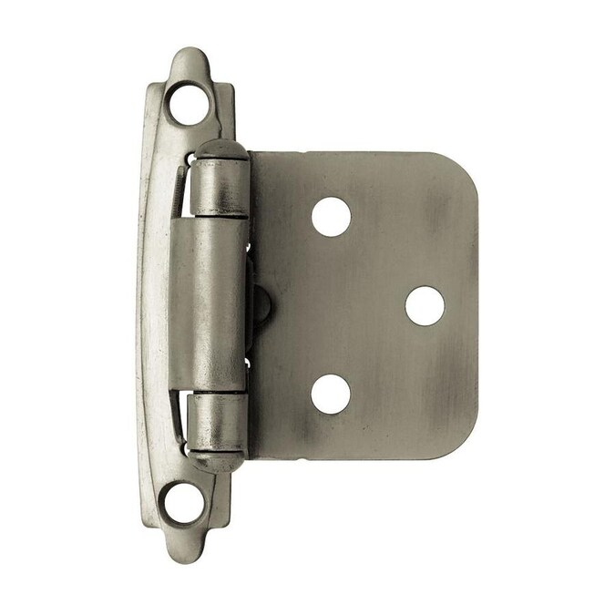 Brainerd 2 Pack Heirloom Silver Self Closing Overlay Cabinet Hinge In The Cabinet Hinges Department At Lowes Com