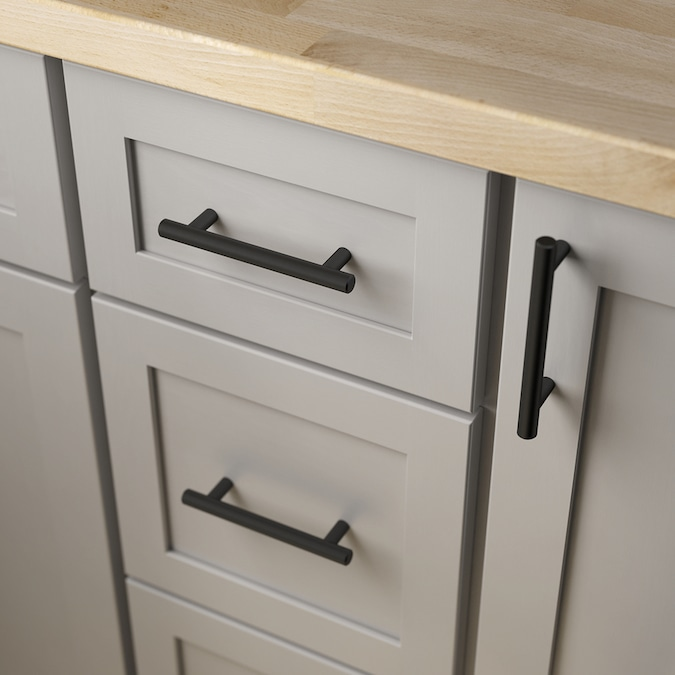Brainerd Bar 3 3 4 In Center To Center Matte Black Cylindrical Bar Drawer Pulls In The Drawer Pulls Department At Lowes Com