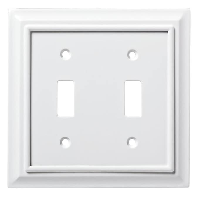 Brainerd Architectural 2 Gang Pure White Double Toggle Standard Wall Plate In The Wall Plates Department At Lowes Com