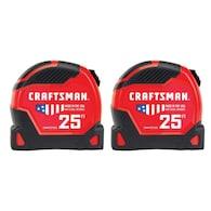 Deals on Craftsman Proreach 2-Pack 25-ft Auto Lock Tape Measure