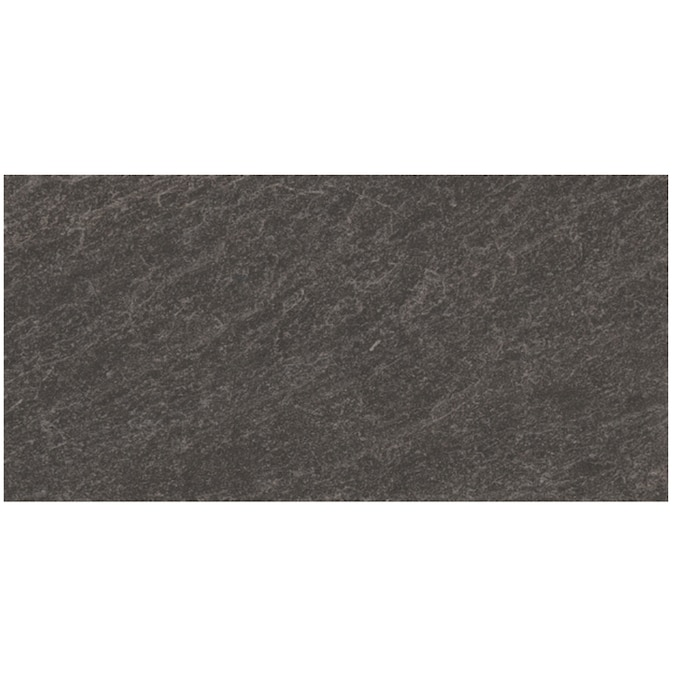 Style Selections Galvano Charcoal 12 In X 24 In Glazed Porcelain Granite Stone Look Floor And Wall Tile In The Tile Department At Lowes Com