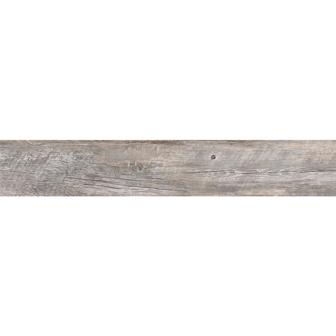 Style Selections Natural Timber Ash 8 In X 48 In Glazed Porcelain Wood Look Floor And Wall Tile In The Tile Department At Lowes Com