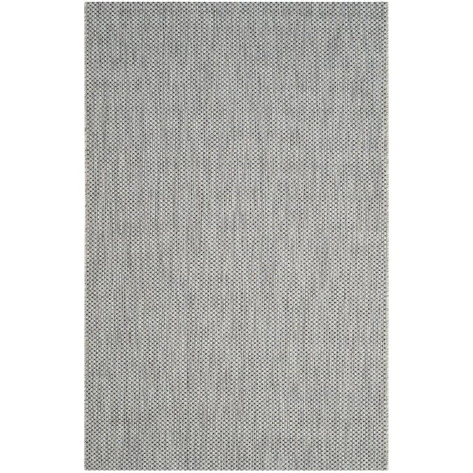Safavieh Courtyard Verd 7 X 10 Gray Navy Indoor Outdoor Solid Coastal Area Rug In The Rugs Department At Lowes Com