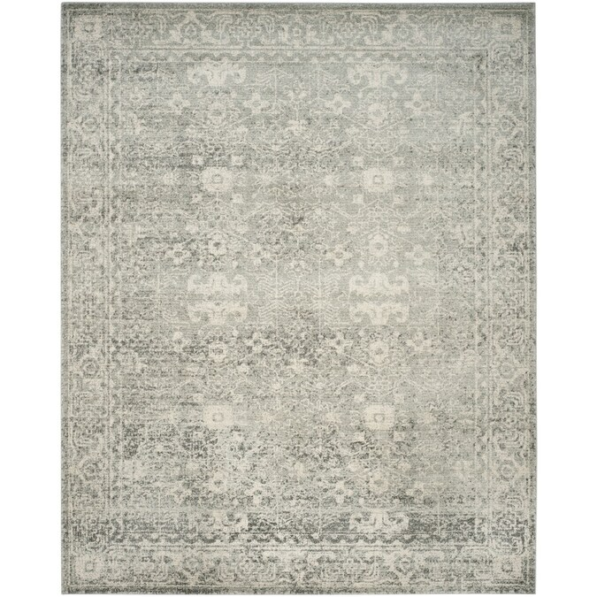 Safavieh Evoke Likoma 7 X 9 Silver Ivory Distressed Overdyed Vintage Area Rug In The Rugs Department At Lowes Com