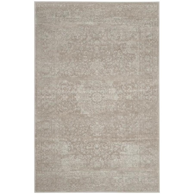 Safavieh Carnegie Calista 4 X 6 Light Beige Cream Indoor Floral Botanical French Country Area Rug In The Rugs Department At Lowes Com
