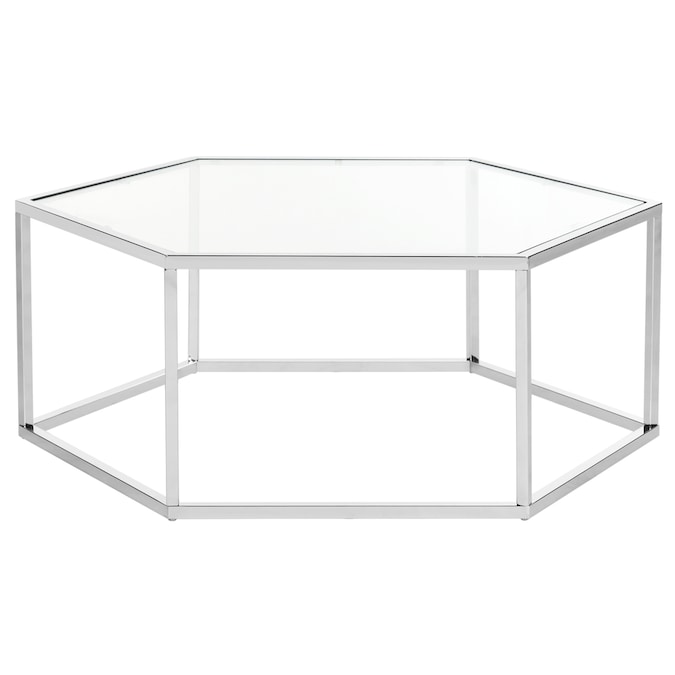 Safavieh Eliana Chrome Glass Coffee Table In The Coffee Tables Department At Lowes Com