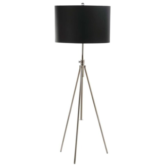 Safavieh Cipriana 72 In Nickel Tripod Floor Lamp In The Floor Lamps Department At Lowes Com