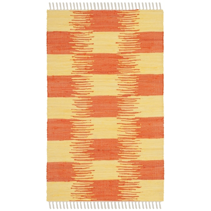 Safavieh Montauk Orford 3 X 4 Yellow Orange Coastal Handcrafted Throw Rug In The Rugs Department At Lowes Com