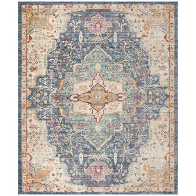 Safavieh Illusion Meshid 9 X 12 Blue Purple Distressed Overdyed Vintage Area Rug In The Rugs Department At Lowes Com