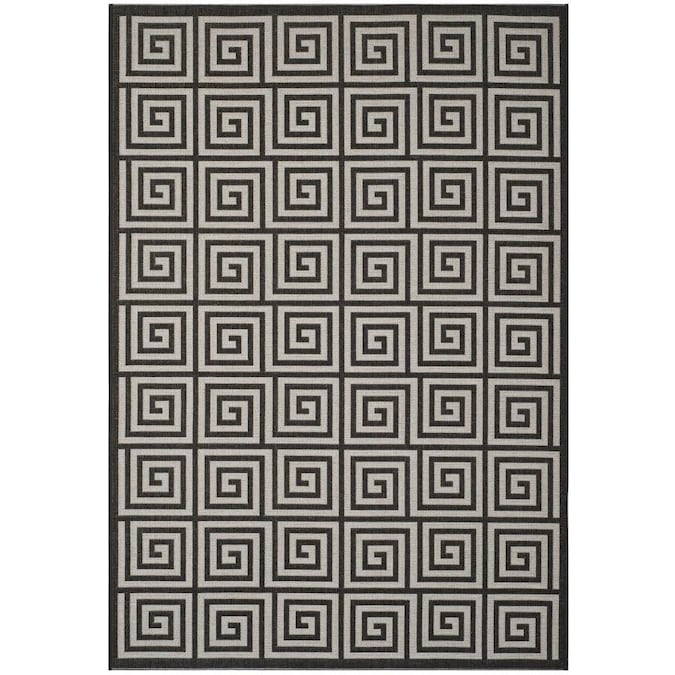 Safavieh Linden Greko 5 X 8 Light Gray Charcoal Indoor Abstract Coastal Area Rug In The Rugs Department At Lowes Com