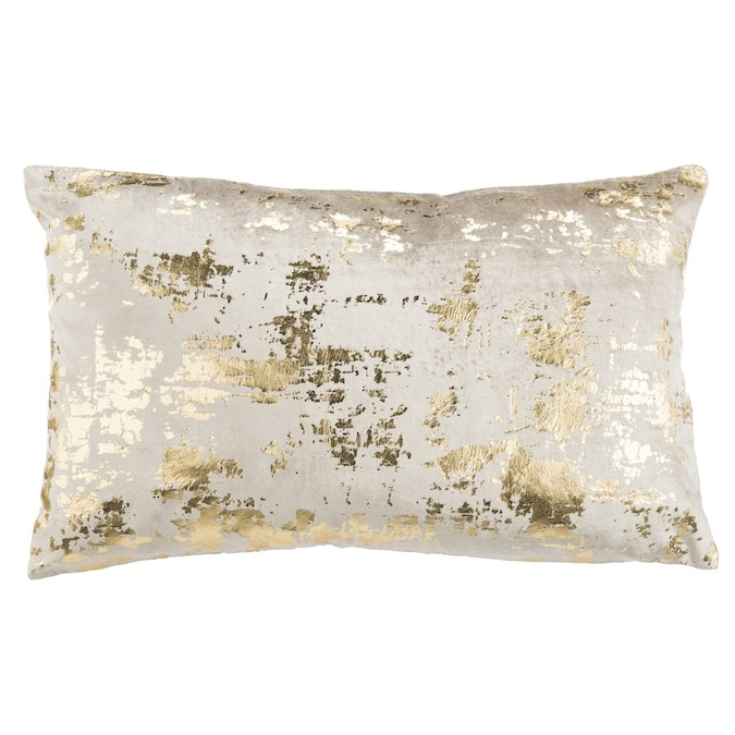 Safavieh Edmee Metallic 20 In X 20 In Beige Gold Viscose Cotton Square Indoor Decorative Pillow In The Throw Pillows Department At Lowes Com