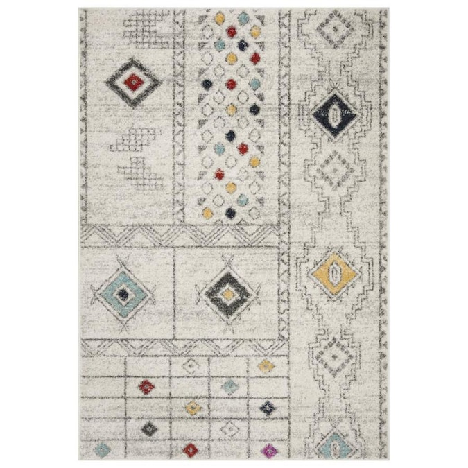 Safavieh Adirondack Callum 5 X 8 Light Gray Aqua Abstract Moroccan Area Rug In The Rugs Department At Lowes Com
